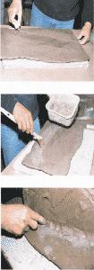 Jean pierre viot sculpture mont%C3%A9e %C3%A0 la plaque assemblage par collage 105x300 - Le travail des surfaces