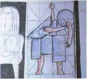 Roger Capron dessin pr%C3%A9paratoire. 300x273 - Le modelage et le sculpteur