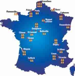 carte nucleaure 294x300 - Le pire cauchemar de la France : un accident nucléaire