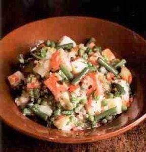 Salade de pommes de terre  288x300 - Salade de pommes de terre aux legumes