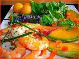 Salade de langoustines aux trois melons - Salade de langoustines aux trois melons