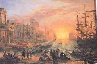 Claude Gellee dit le Lorrain Port de mer au soleil - La lumière