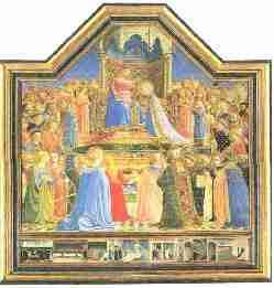 Fra Angelico Le Couronnement de la Vierge - Détrempe et tempera
