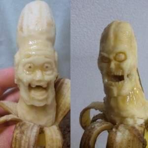Il y a la sculpture sur pierre glace sable et maintenant la sculpture sur banane grâce à cet artiste asiatique. Impressionnant quand même. 300x300 - Sculpture sur banane