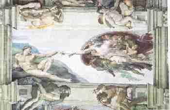 La Creation du monde - La peinture des voûtes et des plafonds