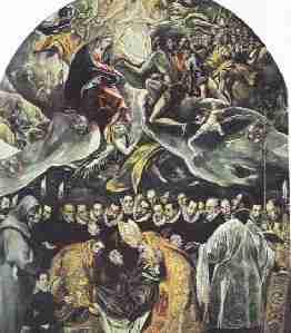 Le Greco Enterrement du comte Orgaz - Les formats du tableau