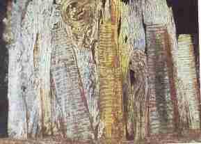 Max Ernst Vision provoquee par l%E2%80%99aspect nocturne de la porte Saint Denis2 - Textures et effets de matière