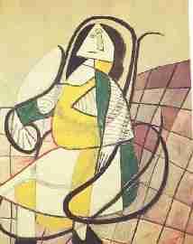 Pablo Picasso Femme assise dans un rocking chair - la ligne