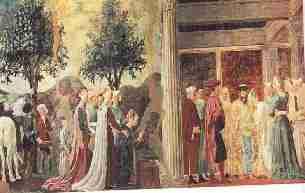 Piero delia Francesca La Reine de Saba - La fresque