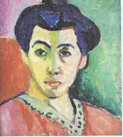 Portrait de Mme Matisse - Le fauvisme