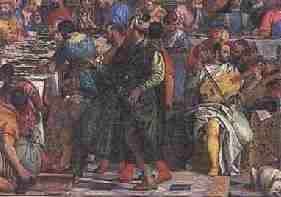 Veronese les Noces de Cana - Repentir et repeint