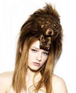 Unusual Hair-style