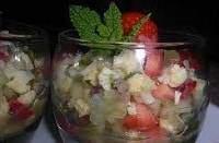Salade de fraises à la citronnette de menthe - Salade de fraises à la citronnette de menthe