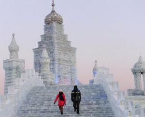 Tout une ville en neige