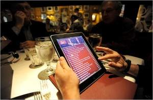 Menu en Tablet PC