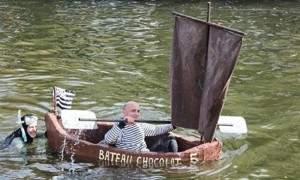 Bateaux en chocolat