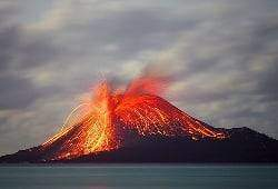 Krakatoa volcan indonésie - Les volcans en Asie et Océanie: Indonésie