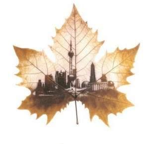 Art sur les feuilles d'arbre