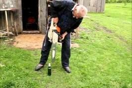 Vous pouvez ouvrir une bière avec une tronçonneuse?