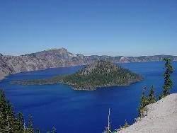 crater lake - Les volcans en Amériques: Washington - Etats-Unis