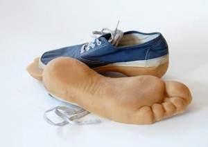 Chaussure en pied