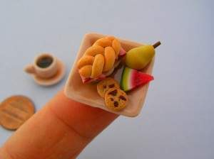 Sculptures de nourriture miniature