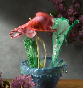 Des fleurs de liquide
