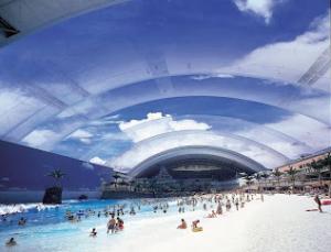 Une plage artificielle