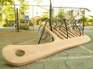 Porte-vélos en forme de peigne