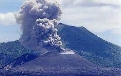 rabaul - Les volcans :La caldeira du Rabaul