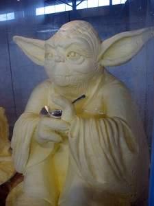sculptures de beurre8 225x300 - Sculptures sur beurre