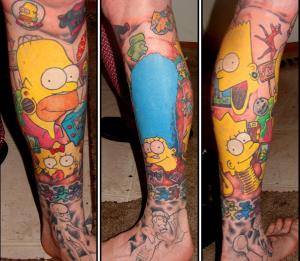 Tattoos des Simpsons