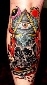 Des tatouages colorés