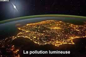 Caractéristiques lumineuses de la terre.