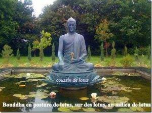 BOUDDHA assis en lotus sur des lotus avec des lotus1 300x224 - Les sièges des divinités