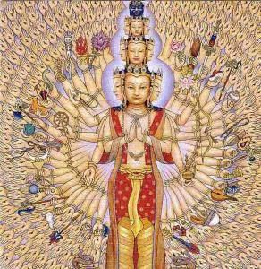 Avalokitesvara 292x300 - Les divinités féminines : Vasudhàrà