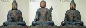 a hachiman all three toji kyouougokuji kyoto 9thC 300x99 - Divinités syncrétiques du Japon : Sogyo Hachiman - shin