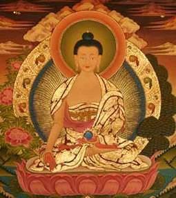 ratnasambhava - Les auréoles des divinités