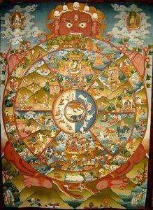 tanka tibet wheel of life 3 TN 219x300 - Les dix rois des enfers