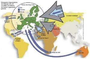 carte importexport1 300x198 - Les pays importateurs de pétrole et de gaz et la sécurité des approvisionnements en énergie