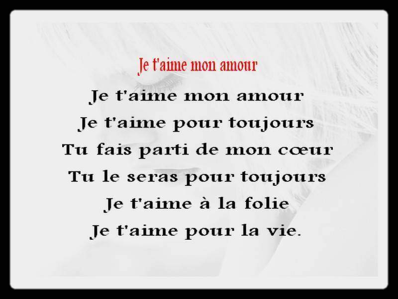 Poem Damour Cest Savoirfr
